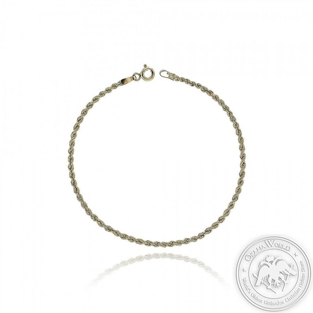 Wrist Chain Bracelet made of 18K Yellow Gold