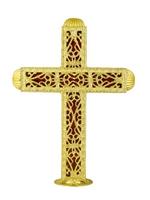 Dome Cross B Aluminium Gold Plated