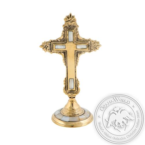 Byzantine Brass with Ivory Sanctification Cross