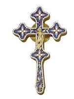 Blessing Cross Byzantine Design Enamel