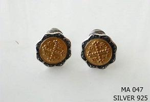 Silver Clergy Cufflinks - 047