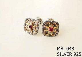 Silver Clergy Cufflinks - 048