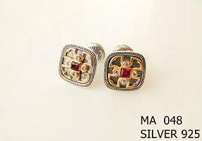 Silver Clergy Cufflinks - 048