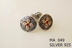 Silver Clergy Cufflinks - 049