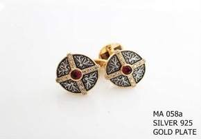 Silver Clergy Cufflinks - 058