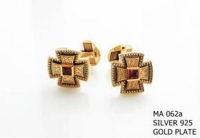Silver Clergy Cufflinks - 062