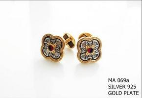 Silver Clergy Cufflinks - 069