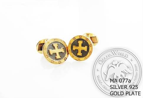 Silver Clergy Cufflinks - 077