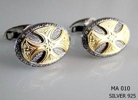 Silver Clergy Cufflinks - 010