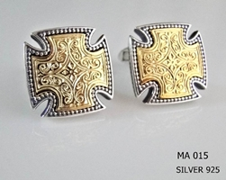 Silver Clergy Cufflinks - 015
