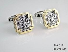 Silver Clergy Cufflinks - 017