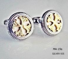 Silver Clergy Cufflinks - 019