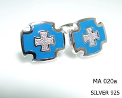 Silver Clergy Cufflinks - 020