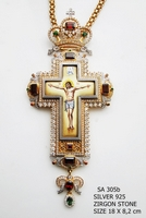 Silver Pectoral Cross - 305