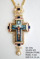 Silver Pectoral Cross - 154a