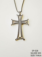 Silver Chest Cross - 028