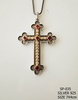 Silver Chest Cross - 035