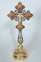 Blessing Cross D28 with Icons & Stones