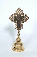 Holy Water Cross with Stones A