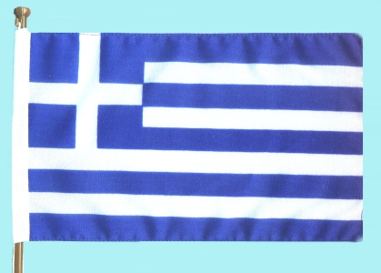 Small Standing Greek Flag