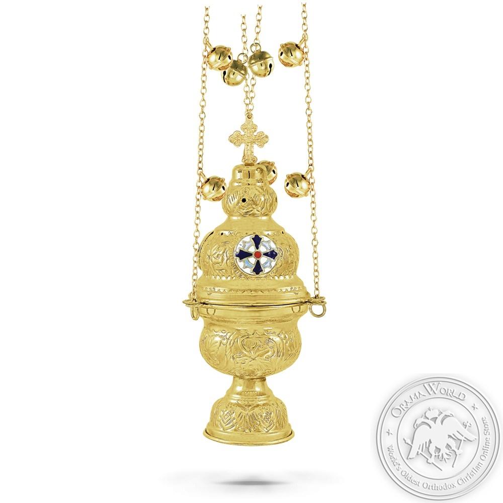 Ecclesiastical Censer Enamel Athenian