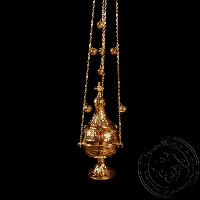 Ecclesiastical Censer Russian Design with Stones - 1000-07