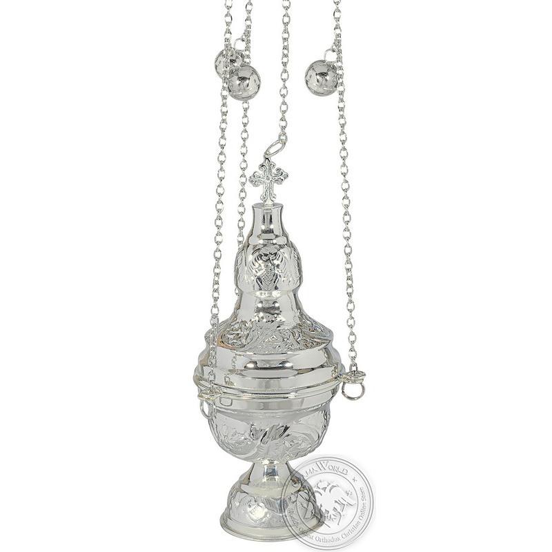 Ecclesiastical Censer Silver Plated - 0106