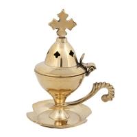 Byzantine Brass Home Censer - H03