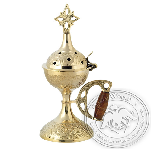 Byzantine Brass Home Censer - H58