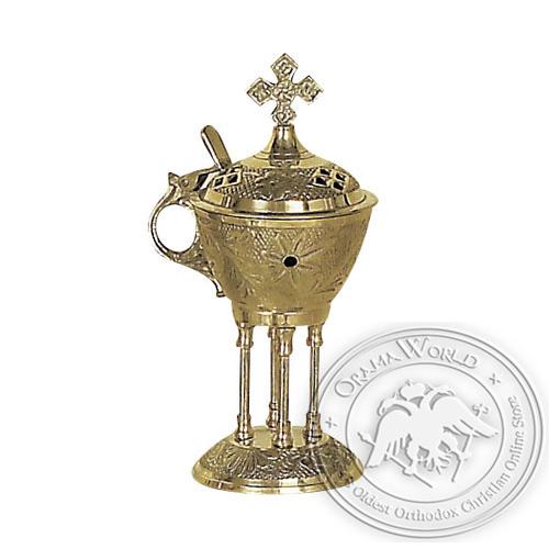 Byzantine Brass Home Censer - H33