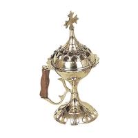 Byzantine Brass Home Censer - H59