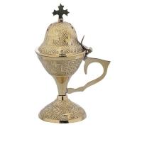 Byzantine Brass Home Censer - H34