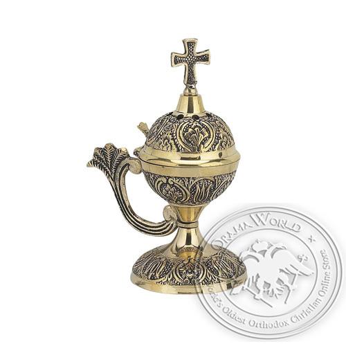 Byzantine Brass Home Censer - H46