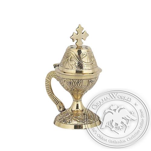 Byzantine Brass Home Censer - H08