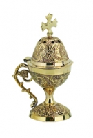 Byzantine Brass Home Censer - H20