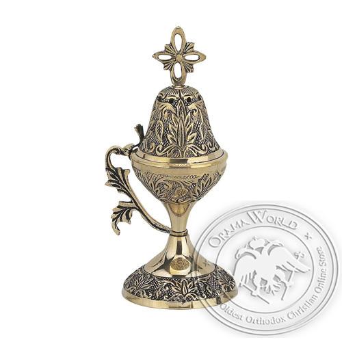 Byzantine Brass Home Censer - H49