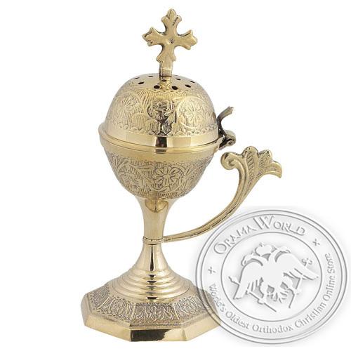 Byzantine Brass Home Censer - H51