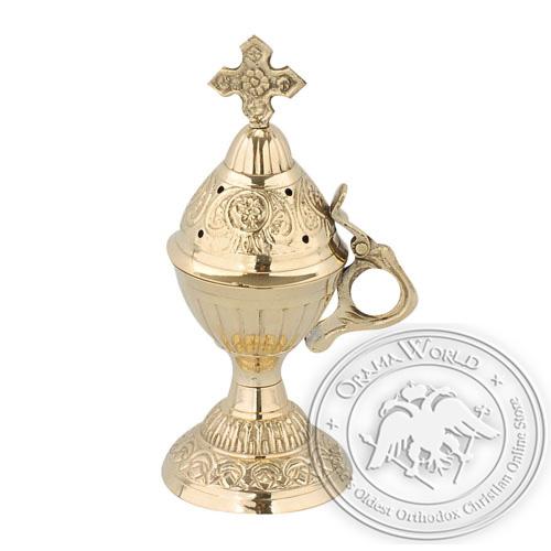 Byzantine Brass Home Censer - H54