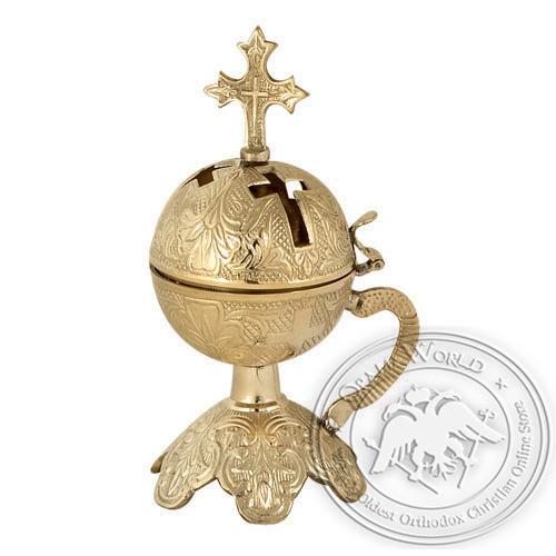 Byzantine Brass Home Censer - H36