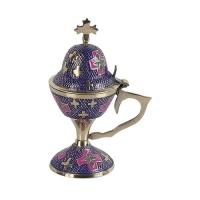 Byzantine Brass Home Censer with Enamel Coating - H77