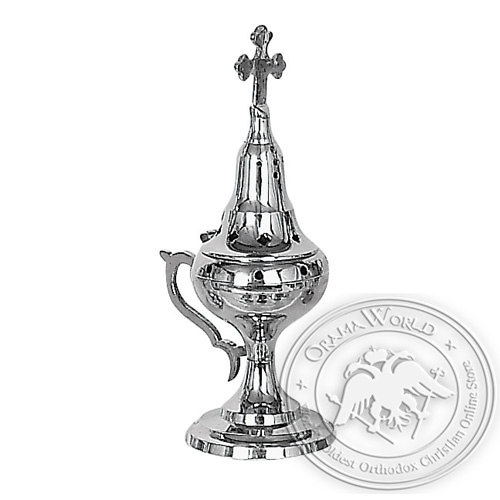 Byzantine Nickel Plated Home Censer - H60
