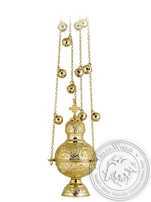 Censer Russian Design Gold Plated