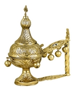 Hand Censer Dome Gold Plated