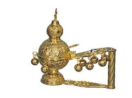 Hand Censer Russian Design Gold Plated