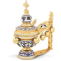 Hand Censer Enamel Gold Plated