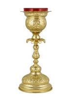 Vigil Lamp Byzantine A Gold Plated
