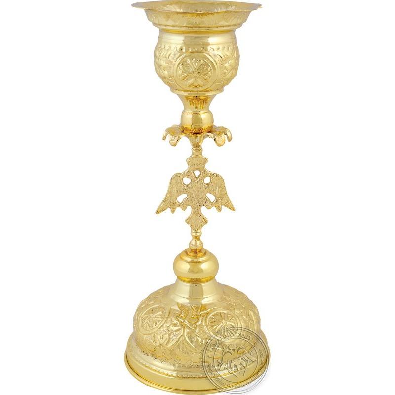 Ecclesiastical Vigil Oil Candle Two-Headed Eagle - 0614