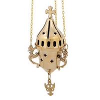 Byzantine Brass Hanging Oil Candle