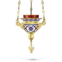 Hanging Oil Candle No1 Enamel Byzantine