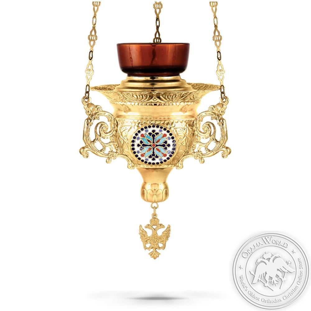 Hanging Oil Candle No5 Enamel Byzantine